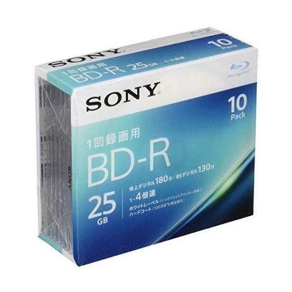 ☆送料無料☆ 当日発送可能 ソニー 10BNR1VJPS4 ビデオ用ブルーレイディスク BD-R SONY 1層:4倍速 10枚パック 評価