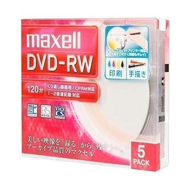 マクセル スーパーSALE セール期間限定 お気に入り DW120WPA.5S 録画用DVD-RW 標準120分 1-2倍速 maxell ワイドプリンタブルホワイト