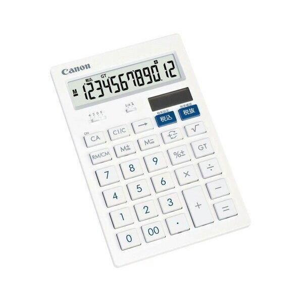キヤノン HS-121T 電卓 12桁 高級 卓上サイズ HS121T キレイ電卓 抗菌 特別セール品 CANON