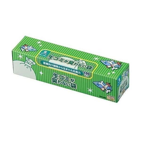 セットアップ 2個セット ボス 生ゴミが臭わない袋 Sサイズ 100枚 BOS 処理袋 生ゴミ 驚異の防臭袋 ホワイト 大決算セール