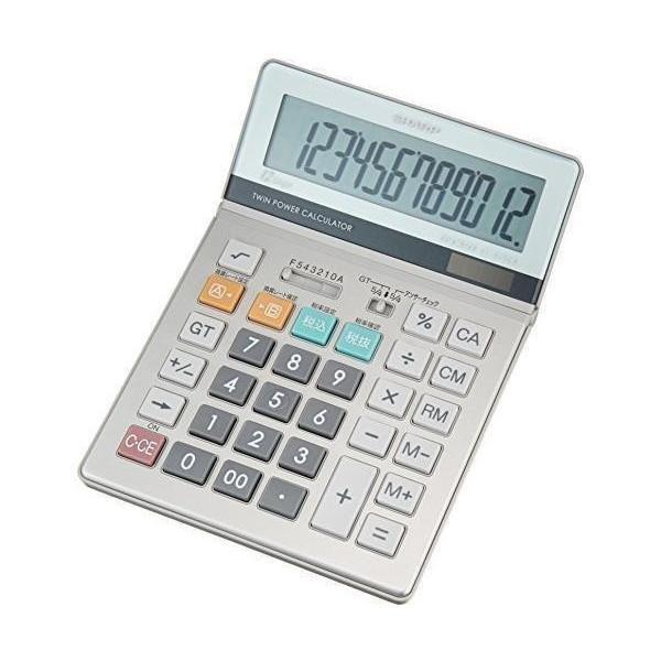 シャープ 実務電卓 EL-S752KX セミデスクトップタイプ 12桁 グリーン購入法適合モデル