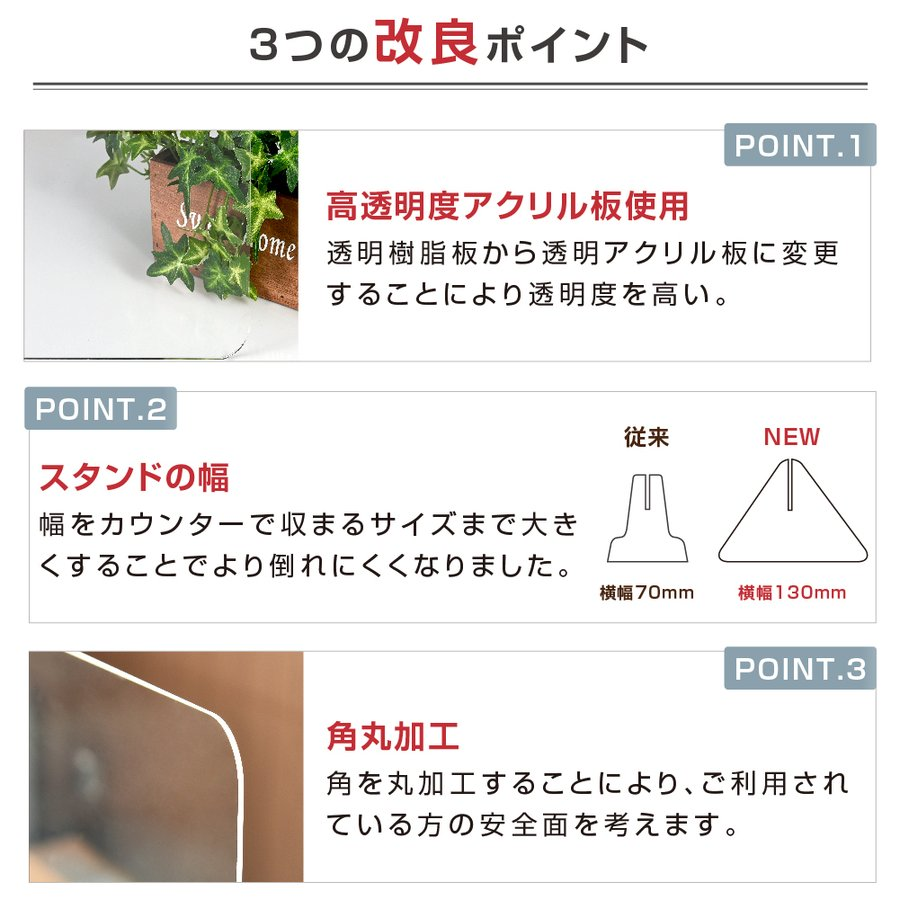日本製 アクリルパーテーション 透明 W500xH500mm  デスク用仕切り板 アクリル板 間仕切り  衝立 飛沫防止 組立式 卓上パネル(jap-r5050) bestsign 03