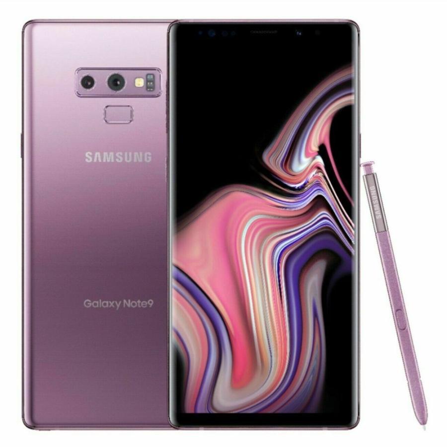 (新品) 海外SIMフリー Samsung Galaxy Note9 N960U SIMフリースマートフォン 128GB ラベンダーパープル(Lavender Purple) 国際送料無料