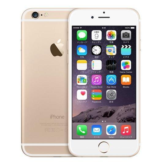 海外SIMシムフリー版 Apple iPhone6 ゴールド(金)128GB [送料無料]