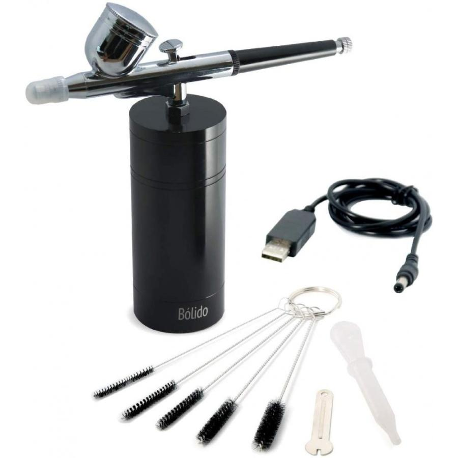 Bolido  充電式シングルアクションエアブラシ  無線(クローム素材の高級エアブラシ・クリーニングブラシ付き)|besttools