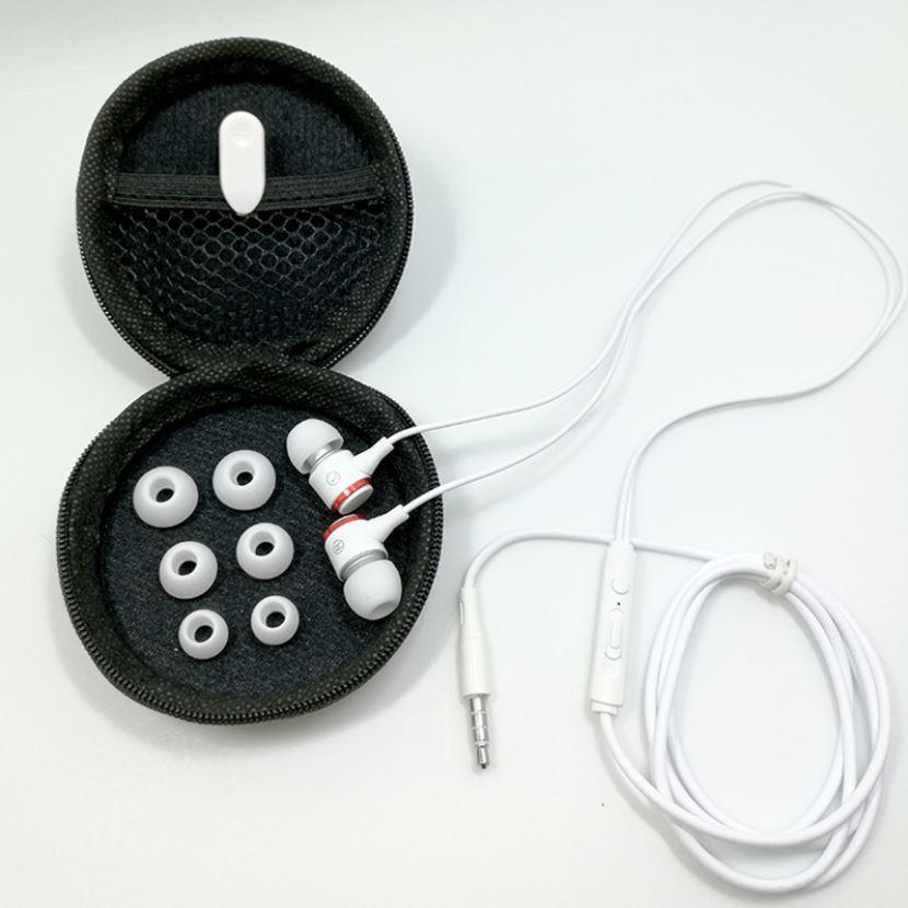 アイフォンイヤホン iPhone 有線 ジャック カナル型 ケース付 ホワイト bewide 02
