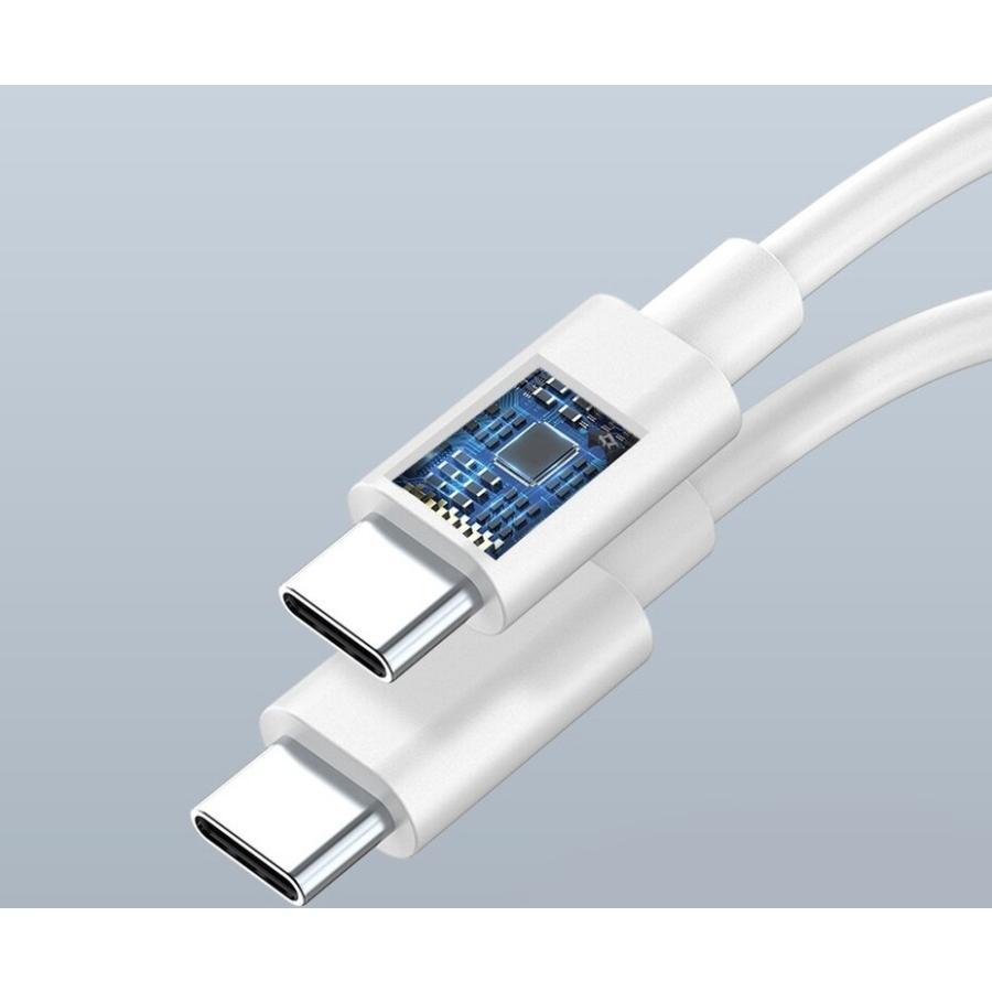 usb type c ケーブル 1m 充電 ホワイト QC 3.0 2.0 60W 3A|bewide