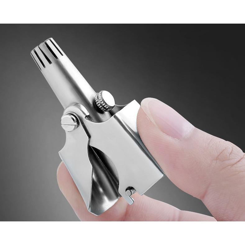 鼻毛カッター 手動 鼻毛処理 女性 男性 水洗い可能 ステンレス 激安特価品 エチケットカッター 新商品 ケース付き
