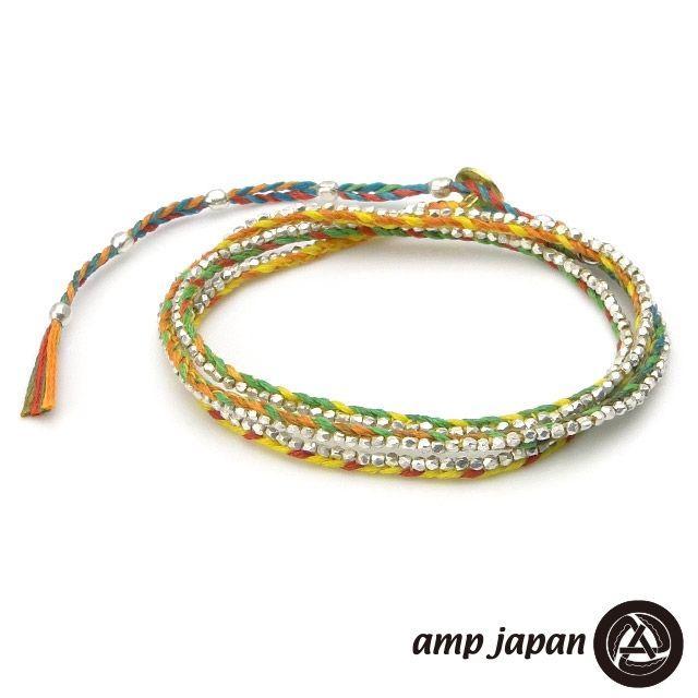 【使い勝手の良い】 amp japan アンプジャパン シルバービーズ レインボー ブレスレット, ヒダシ 35ffec09