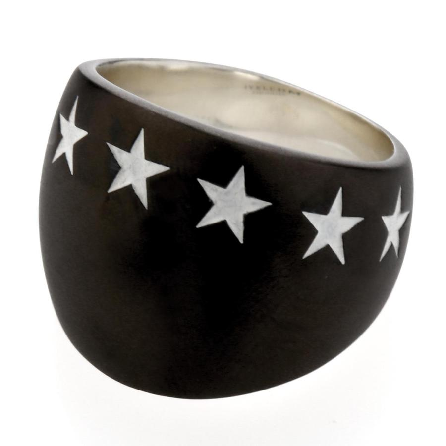 最も信頼できる IVXLCDM アイブイエックスエルシーディーエム リング BIG SEVEN STAR RING MATTE MATTE BLACK STAR リング/ WHITE, CQB:efe351e0 --- airmodconsu.dominiotemporario.com