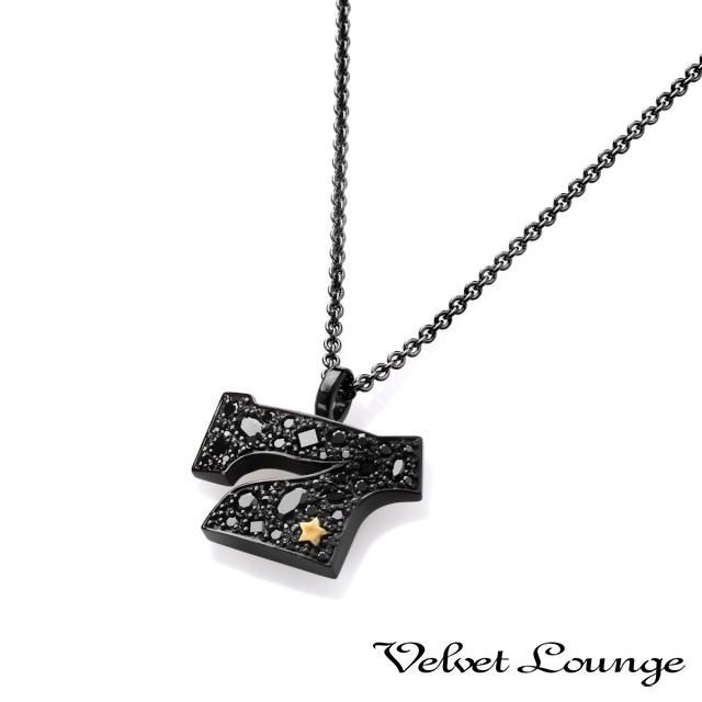 【通販激安】 Velvet Lounge ヴェルヴェットラウンジ スターダストセブンスターペンダント ブラック, プロショップ RBS b0d0fc41
