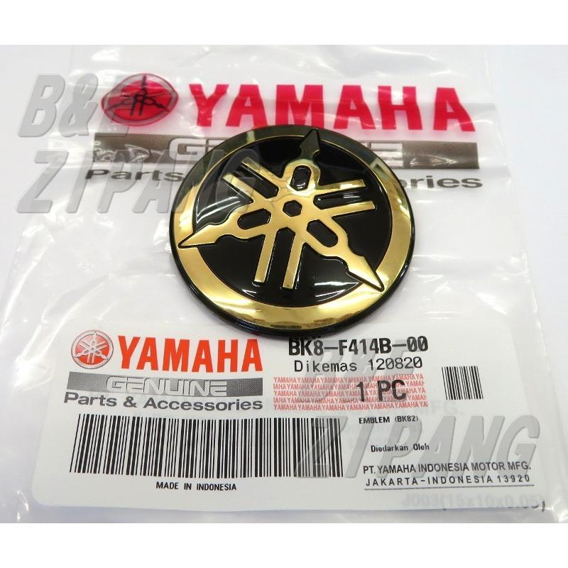送料無料 YAMAHA純正 ヤマハ 音叉 ロゴ 優先配送 ステッカー 引出物 アルミニウムコーティング ゴールド 直径50mm エンブレム