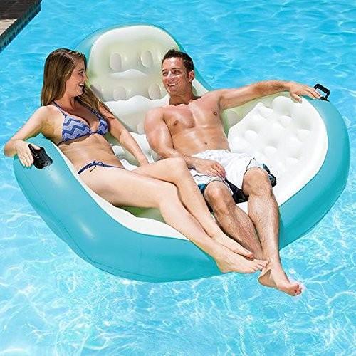 インフレータブル ラウンジ フロート 2人用 プール 浮き輪