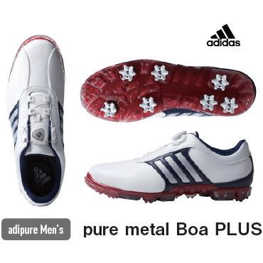 【2018最新作】 【送料無料】adidas pure metal Boa PLUS ゴルフシューズ(メンズ / ピュア メタル ボア プラス), ニシカモグン 30809139