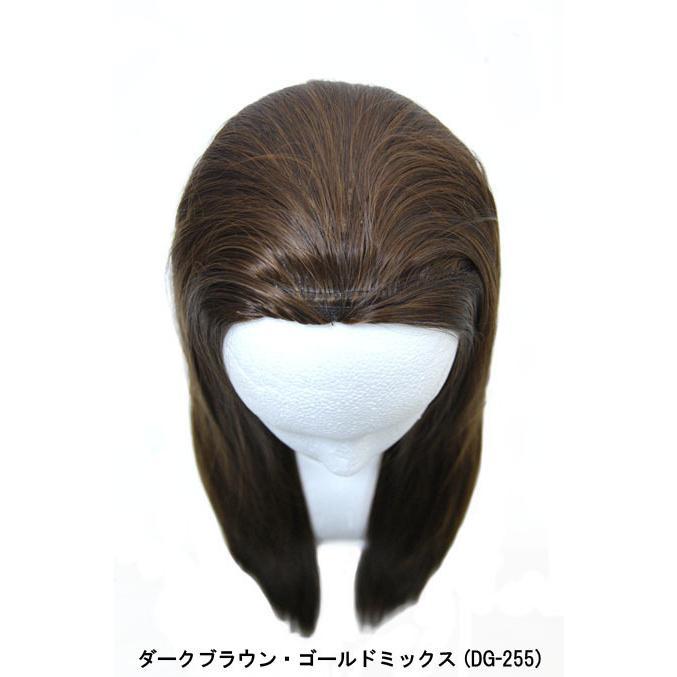 ウィッグ ウイッグ ストレートウィッグ ロング つけ毛 セール/ 耐熱 ハーフウィッグ ストレート 茶髪/条件付き送料無料 ビビデ ビビデバビデブー /FLP427M|bibidebabideboo|04