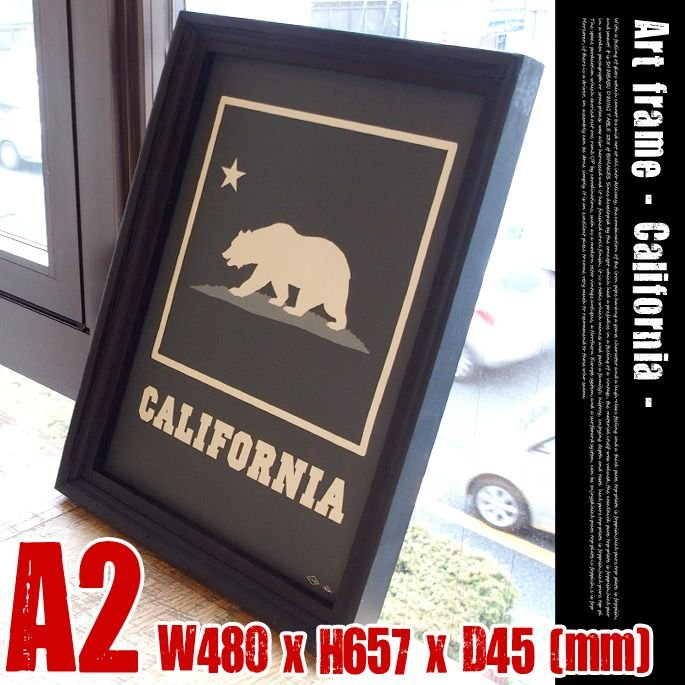 Art Frame California(アートフレーム カリフォルニア) A2 size 黒フレーム 黒フレーム TR-4198(CA)