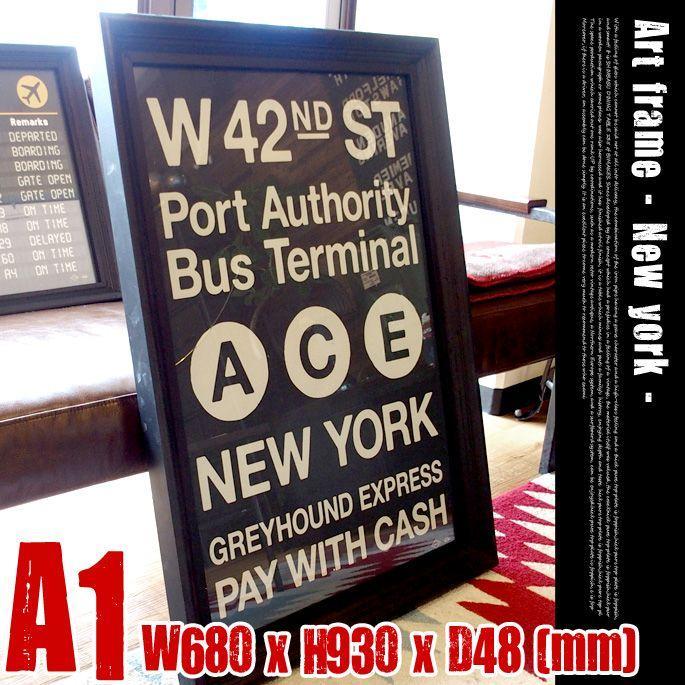 Art Frame New york(アートフレーム york(アートフレーム ニューヨーク) A1 size 黒フレーム TR-4199(NY)