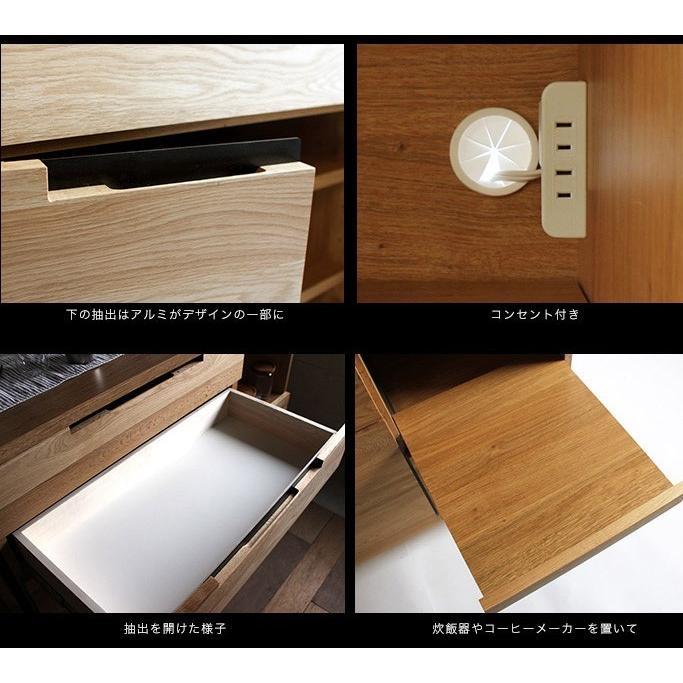 アデペシュ a depeche スプレム キッチンボード 1200 splem kitchen board 1200 SPM-KTB-1200 収納家具 オーク無垢材 日本製 アイアン 食器棚|bicasa|06