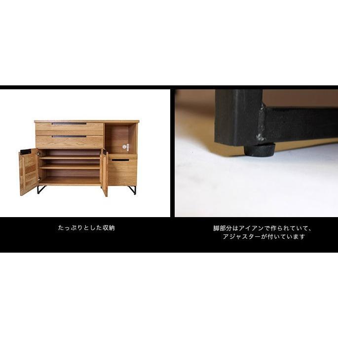 アデペシュ a depeche スプレム キッチンボード 1200 splem kitchen board 1200 SPM-KTB-1200 収納家具 オーク無垢材 日本製 アイアン 食器棚|bicasa|07