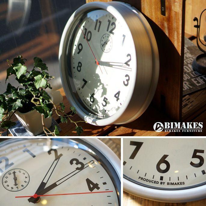 ビメイクス BIMAKES 掛け時計 壁時計 オシャレ ハンフォードウォールクロック アナログ スィープムーブメント スチール製 あすつく bicasa 03