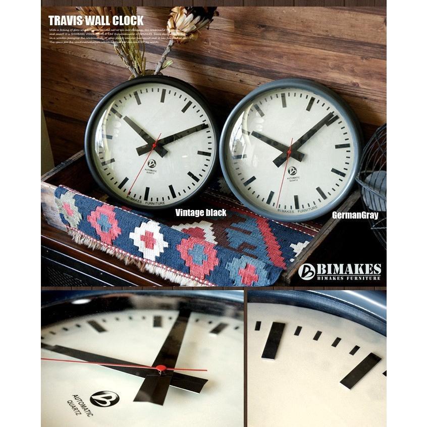 ビメイクス BIMAKES 掛け時計 壁時計 オシャレ トラヴィスウォールクロック アナログ スィープムーブメント スチール製 あすつく bicasa 08