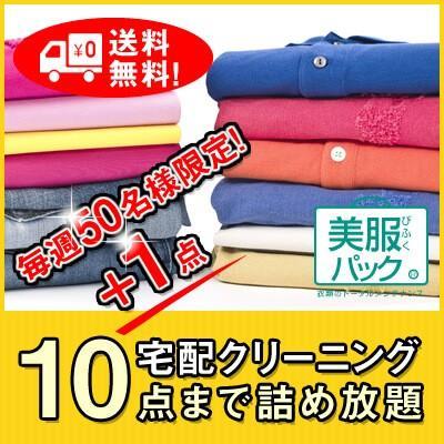 【毎週50名様限定!リニューアル特別価格】《美服パックデイリー10+1》宅配クリーニング 10点+更に1点まで詰め放題で送料無料!大切な衣類を丁寧に仕上げます! bifuku
