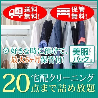 《美服パックライト20》ご注文より最大6か月保管サービス付き!宅配クリーニング 20点まで詰め放題で送料無料(一部地域を除く) bifuku