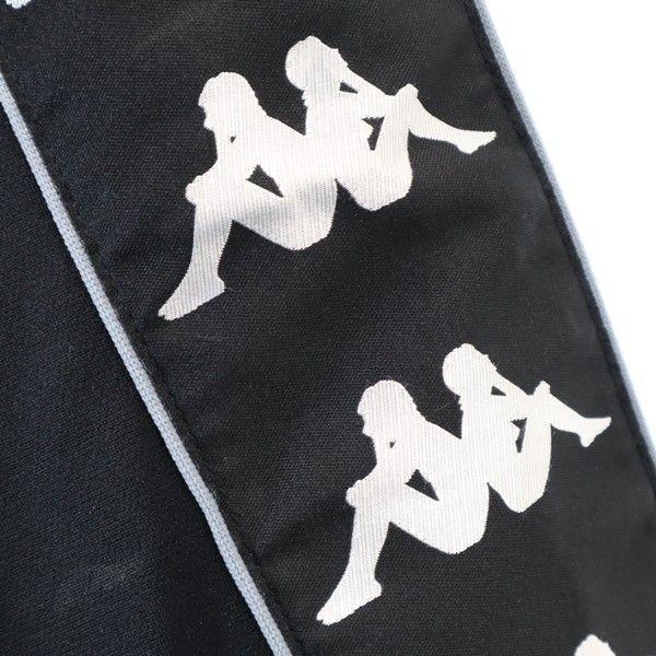 カッパ 90s ロゴテープ ジャージ ジャケット KAPPA 日本製 ヴィンテージ O 黒 メンズ 200128 big-2nd 08