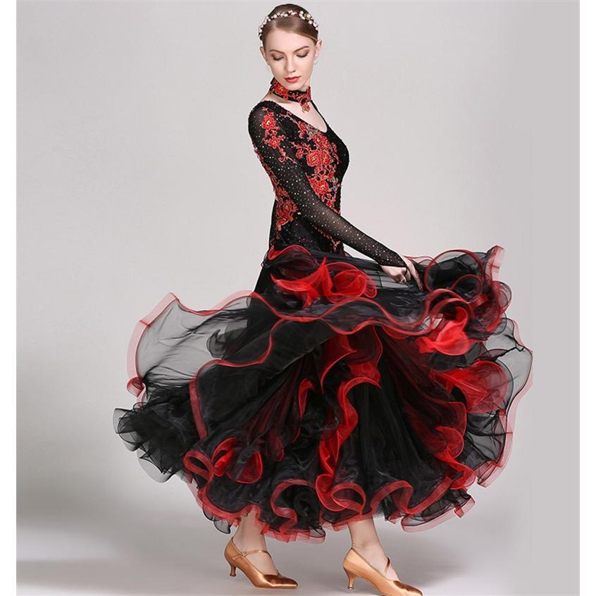社交ダンス衣装 社交ダンスドレス ダンス衣装 レディース ダンスウェア ステージ衣装 競技会 ワンピース パーティー舞台衣装 演出服 社交ダンス モダンドレス