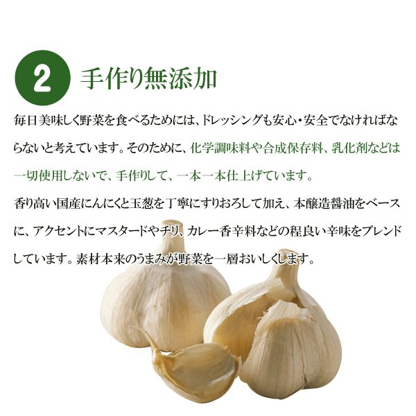 野菜が美味しいディップ風ドレッシング  お得な 200ml×3本セット 手作り無添加|bigfoota-shop|03