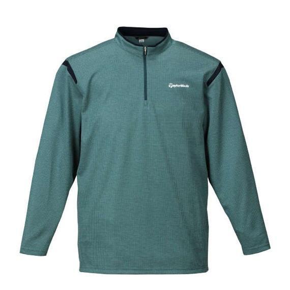 大きいサイズ メンズ TaylorMade コンビネーションジップモックシャツ ゴルフウェア 3L 4L 5L