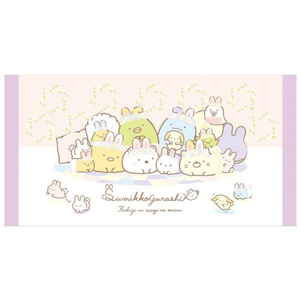 (4) すみっコぐらし ふしぎなうさぎのおにわテーマ サマーグッズ バスタオル (M) CM32002|bigstar