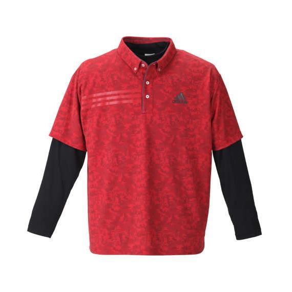 男女兼用 大きいサイズ メンズ 大きいサイズ メンズ golf adidas golf ジオメトリックレイヤードB.Dシャツ レッド×ブラック, 良品マルシェ:3d847d0e --- airmodconsu.dominiotemporario.com