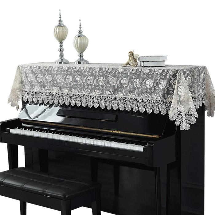 ピアノトップカバー ピアノカバー アップライトピアノ用ピアノトップカバー アップライト ピアノカバー 200cm x 90cm シンプル 刺繍 お洒落 上品 レース柄 bigwind