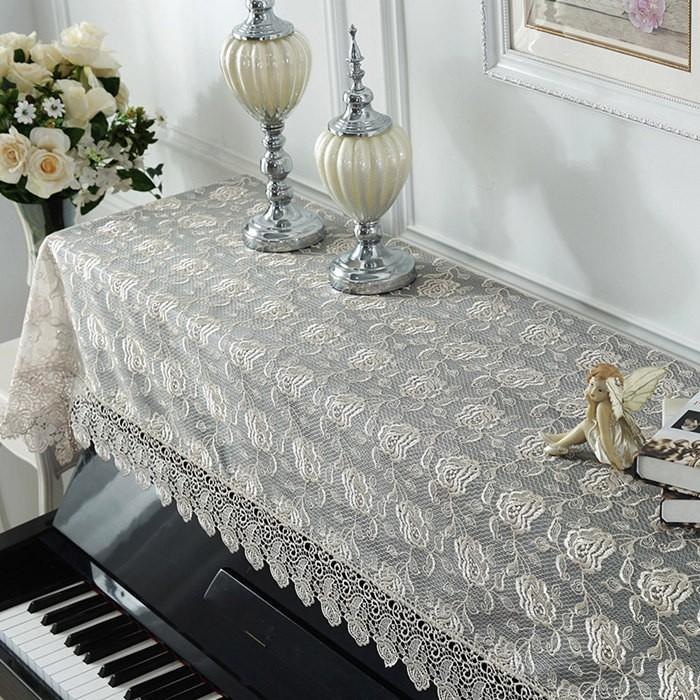 ピアノトップカバー ピアノカバー アップライトピアノ用ピアノトップカバー アップライト ピアノカバー 200cm x 90cm シンプル 刺繍 お洒落 上品 レース柄 bigwind 03