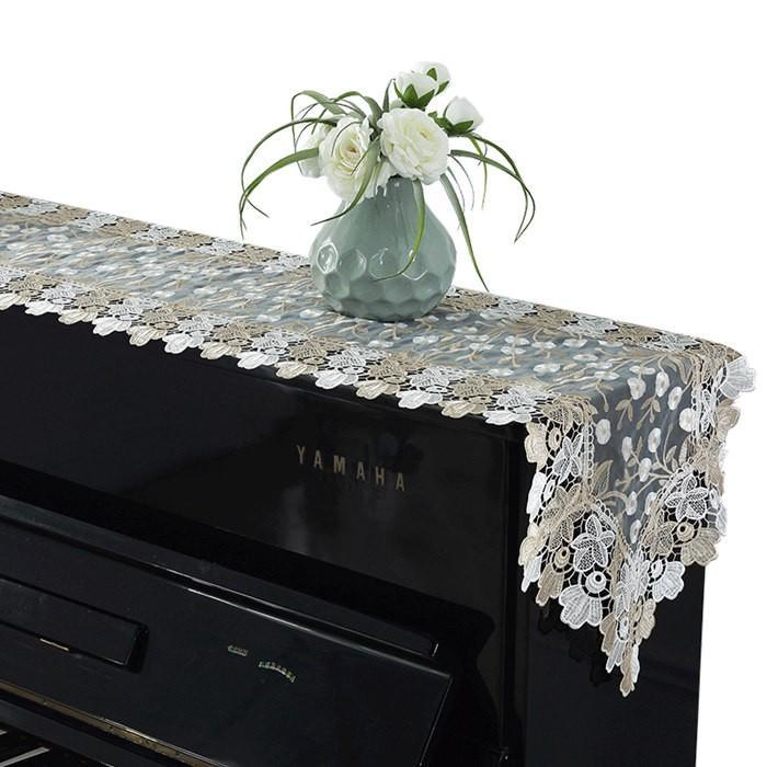 ピアノトップカバー ピアノカバー アップライトピアノ用ピアノトップカバー アップライト ピアノカバー  40cm x220cm シンプル 刺繍 お洒落 上品 レース柄|bigwind