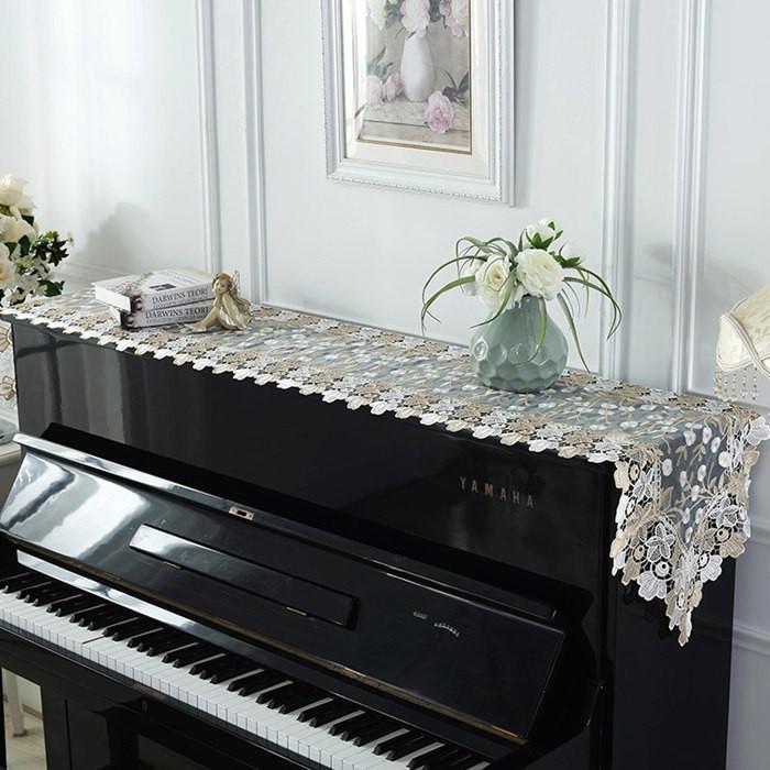 ピアノトップカバー ピアノカバー アップライトピアノ用ピアノトップカバー アップライト ピアノカバー  40cm x220cm シンプル 刺繍 お洒落 上品 レース柄|bigwind|03