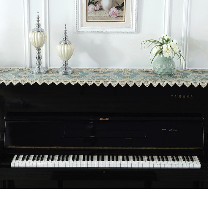 ピアノトップカバー ピアノカバー アップライトピアノ用 アップライト ピアノカバー  40cm x220cm 韓国風 シンプル 刺繍 お洒落 上品 レース柄|bigwind|06