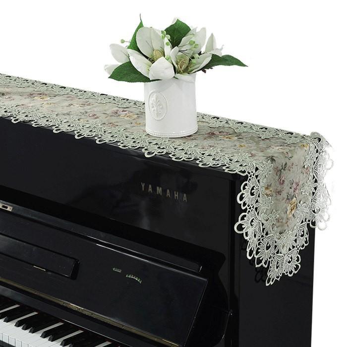 ピアノトップカバー ピアノカバー アップライトピアノ用 アップライト ピアノカバー  40cm x220cm 韓国風 シンプル 刺繍 お洒落 上品 レース柄|bigwind