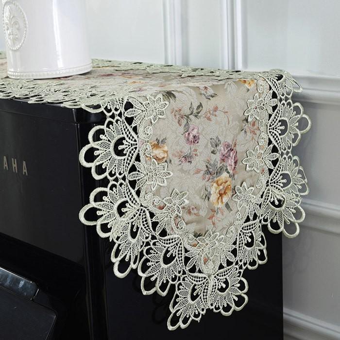 ピアノトップカバー ピアノカバー アップライトピアノ用 アップライト ピアノカバー  40cm x220cm 韓国風 シンプル 刺繍 お洒落 上品 レース柄|bigwind|03