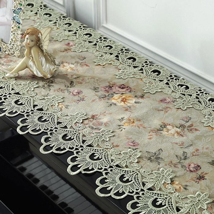 ピアノトップカバー ピアノカバー アップライトピアノ用 アップライト ピアノカバー  40cm x220cm 韓国風 シンプル 刺繍 お洒落 上品 レース柄|bigwind|04