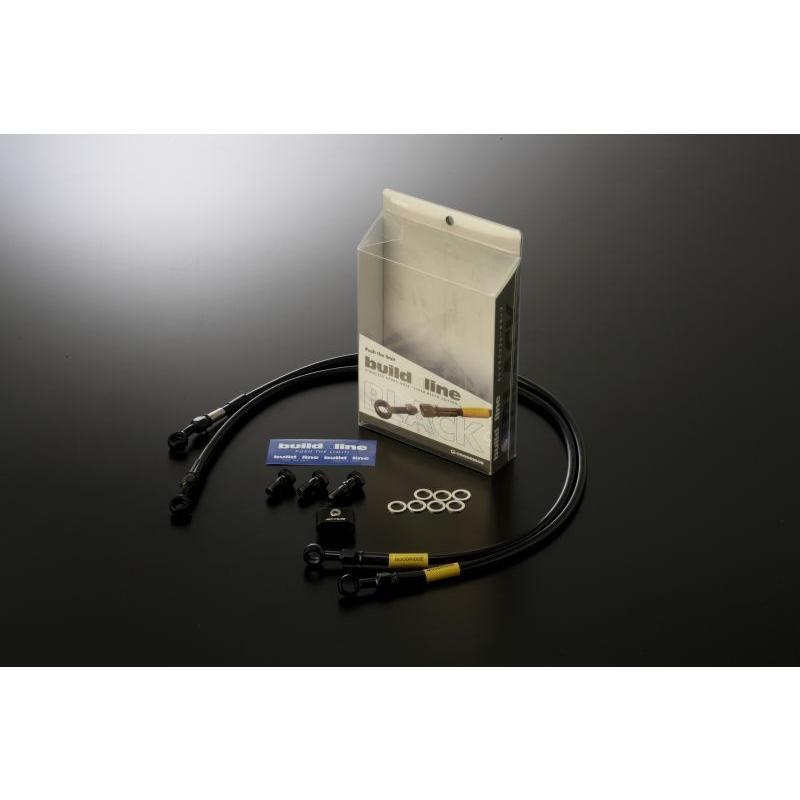 代引き手数料無料 RVF400(NC35) 94-00 メッシュ ブレーキホース フロント ブラック ステンレスブラック ビルドアライン グッドリッジ 20713170, acrop a212e124