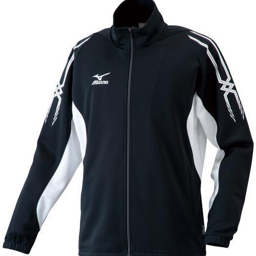 MIZUNO ミズノ A60SB205 ウォームアップシャツ 長袖 メンズ ブラック×ホワイト Sサイズ