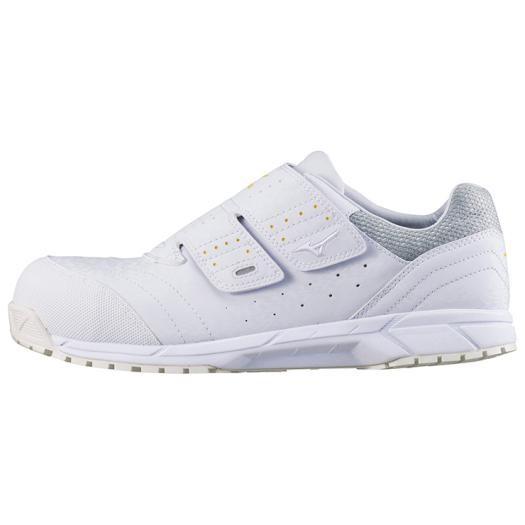 MIZUNO ミズノ C1GA1811 オールマイティAS/安全靴 作業靴 スニーカー 静電気帯電防止タイプ ユニセックス ホワイト 24.5cm