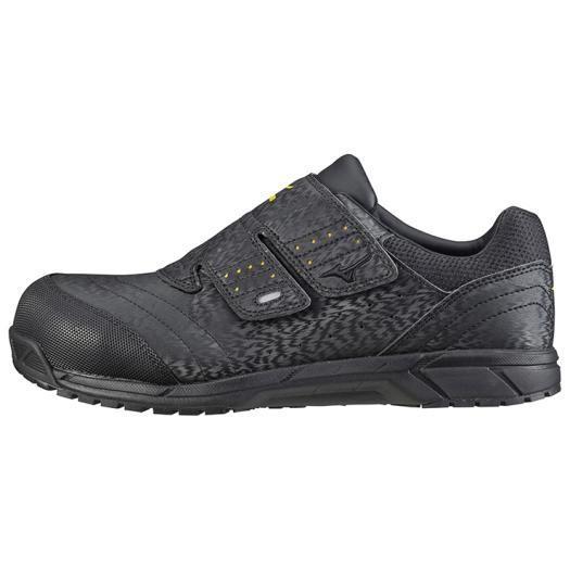 MIZUNO ミズノ C1GA1811 オールマイティAS/安全靴 作業靴 スニーカー 静電気帯電防止タイプ ユニセックス ブラック 25.0cm