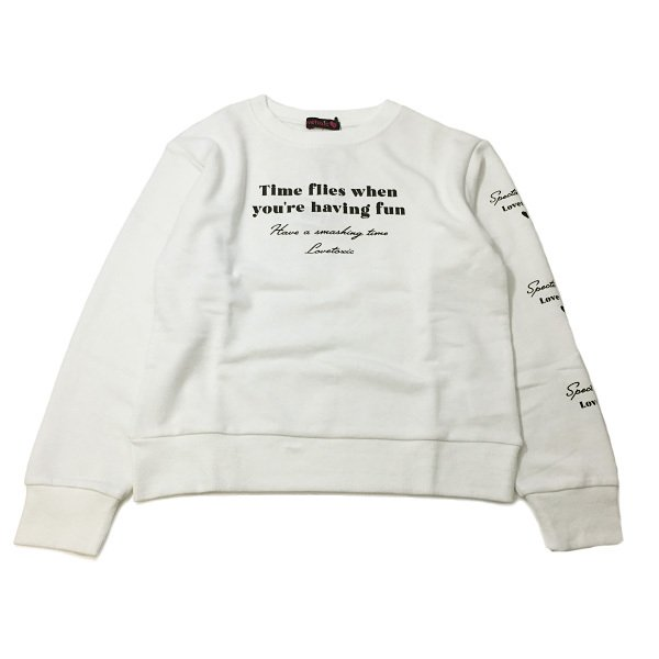 Lovetoxic ラブトキシック 子供服 裏毛 ロゴプリントトレーナー|billy-k|06