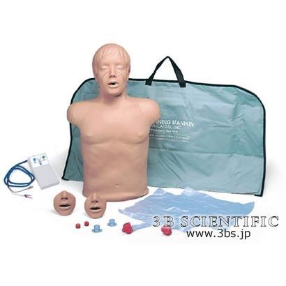無料健康相談対象製品 世界基準 3Bサイエンフィティック社模型 心肺蘇生トルソー、評価機能付 鍼灸 模型