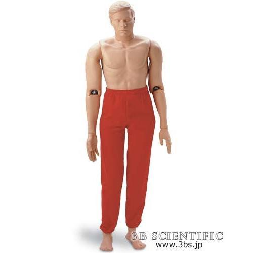 無料健康相談対象製品 世界基準 3Bサイエンフィティック社 模型 レスキューマネキン 177cm/66kg 鍼灸 模型