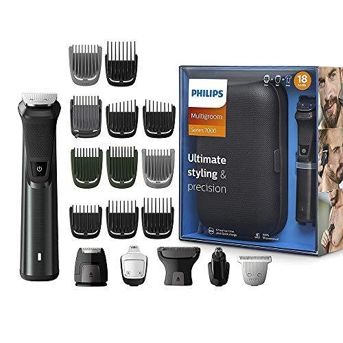 Philips Series 7000 18-in-1 Ultimate Grooming Kit for Beard, Hair and Body with Nose Trimmer Attachment, Premium Metal Handle · MG7785/20