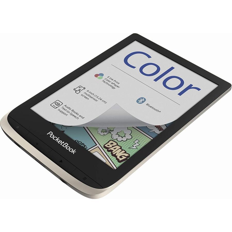 "PocketBook Color (Moon Silver). Display: 6"" E Ink Kaleido; Dual Core (2×1 GHz); RAM: 1 GB; Flash memory: 16 GB; Wi-Fi; Audio; Frontl 並行輸入品|birmingham-ex|06"
